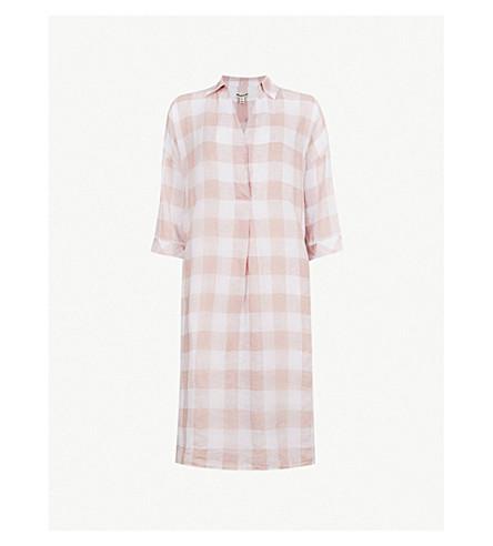 WHISTLES Lola linen gingham dress (Multi-coloured