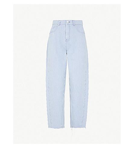 WHISTLES条纹高级牛仔牛仔裤 (多色
