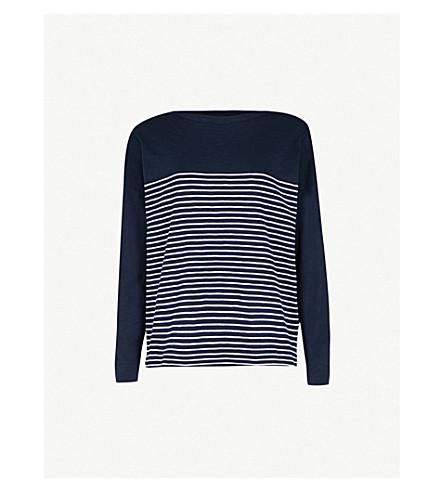 WHISTLES Breton-stripe cotton top (Navy