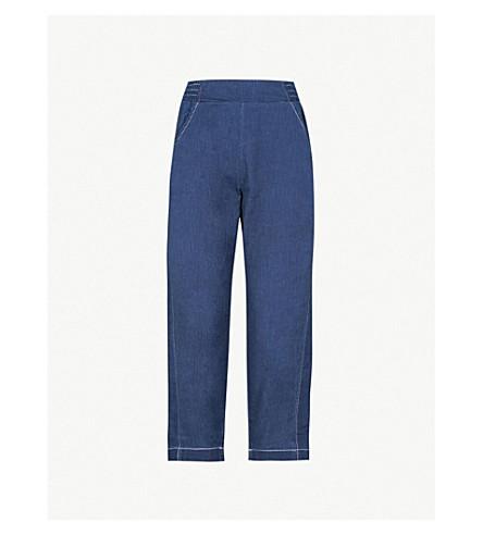 WHISTLES Barrel-leg denim jeans (Blue