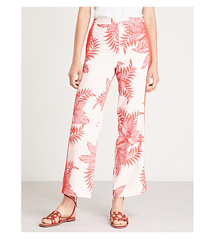 WHISTLES Palmyra crepe trousers (Multi-coloured