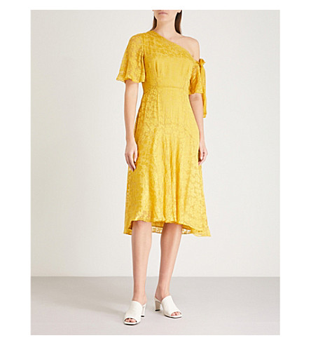 WHISTLES Yellow Anna one Anna devor shoulder WHISTLES dress dqRtWaU