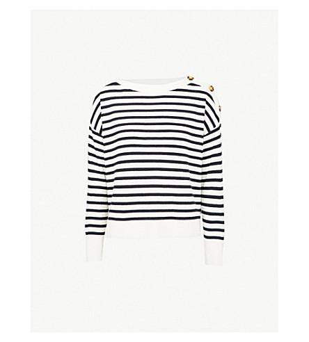 WHISTLES Stripe-pattern knitted jumper (Multi-coloured