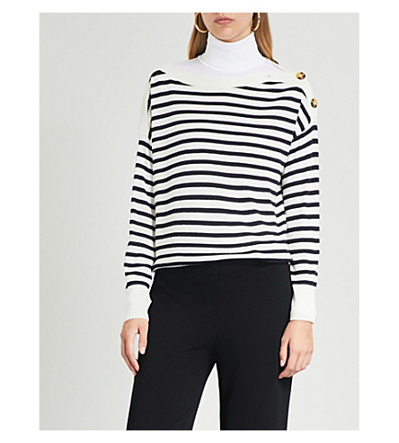 WHISTLES Stripe-pattern knitted jumper (Multi-coloured