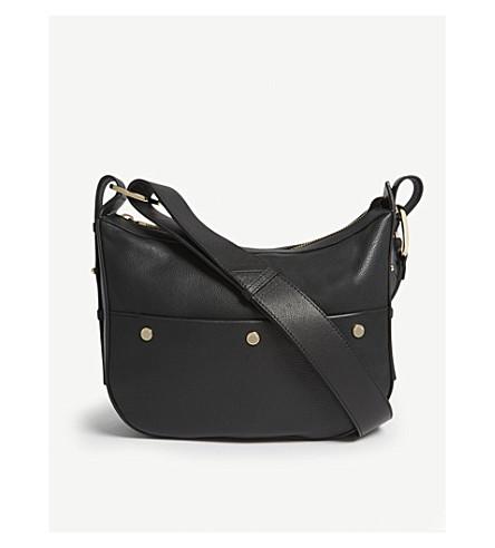 386623d5e81f ... WHISTLES Arlo studded leather shoulder bag (Black. PreviousNext