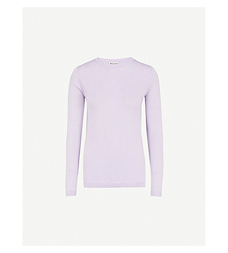 WHISTLES Annie metallic knitted sweater (Lilac
