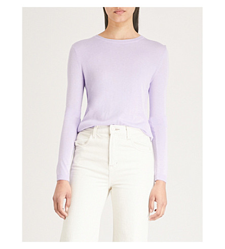WHISTLES Annie metallic knitted jumper (Lilac