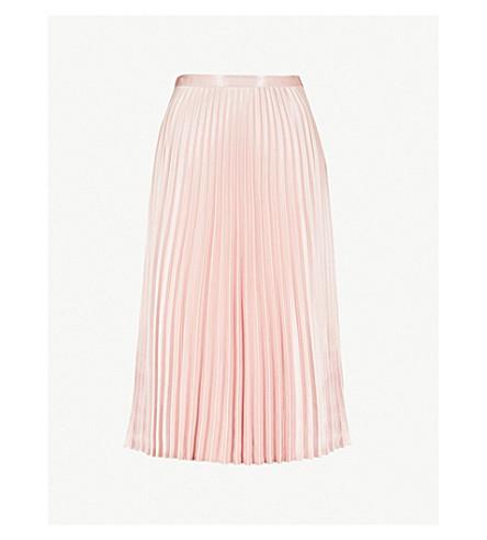 WHISTLES 褶缎布裙 (淡 + 粉红色