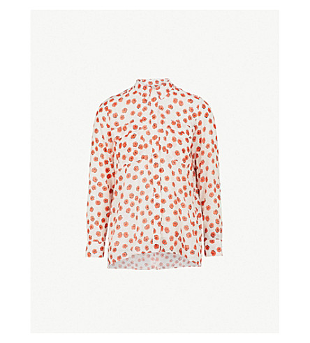 WHISTLES Mariana Lenno cotton-voile shirt (Multi-coloured