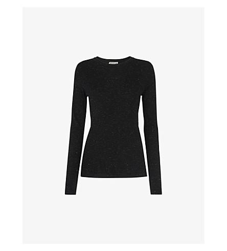 WHISTLES Annie metallic-knitted jumper (Black