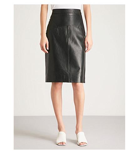 WHISTLES Kel leather pencil skirt (Black