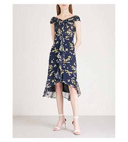 WHISTLES Eriko Dobbie chiffon dress (Multi-coloured