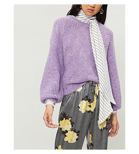 WHISTLES Sophia balloon-sleeve mohair and wool-blend jumper