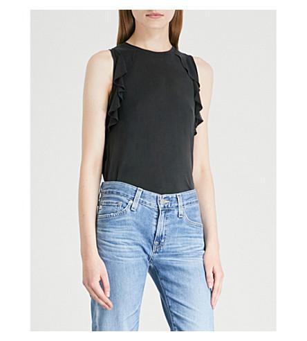 Frill-detail vest