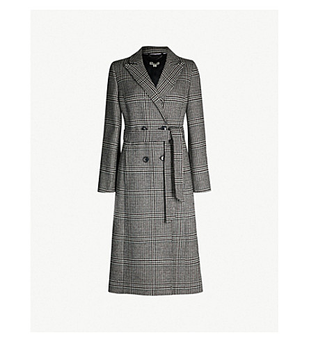 WHISTLES Penelope belted check coat (Multicolour