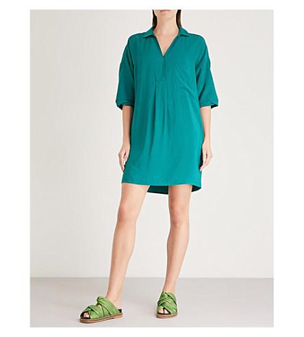 box box woven Green pleat Lea box dress WHISTLES Lea dress WHISTLES woven Green Lea WHISTLES pleat 4P8w1