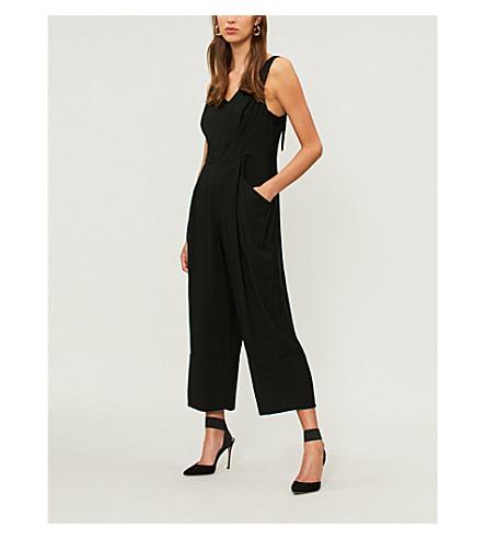 WHISTLES Mara wide-leg woven jumpsuit (Black
