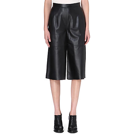 WHISTLES Mio Limited Edition leather culottes (Black