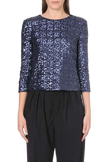 WHISTLES Delphine sequinned top