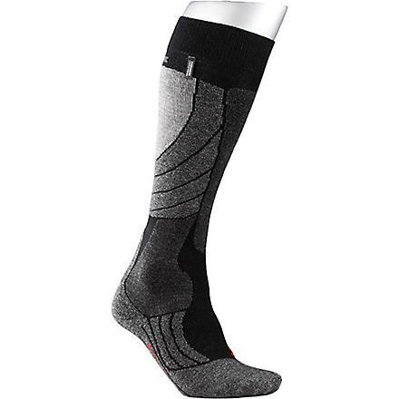 FALKE SK2 cashmere-blend ski socks (Black