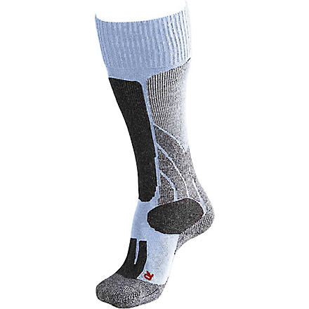 FALKE SK1 wool-blend ski socks (Blue