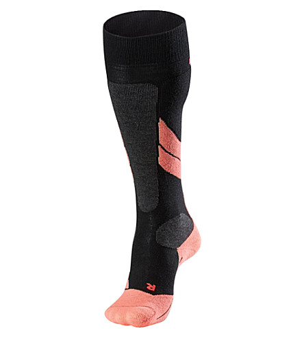 FALKE SK1 wool-blend ski socks (Black