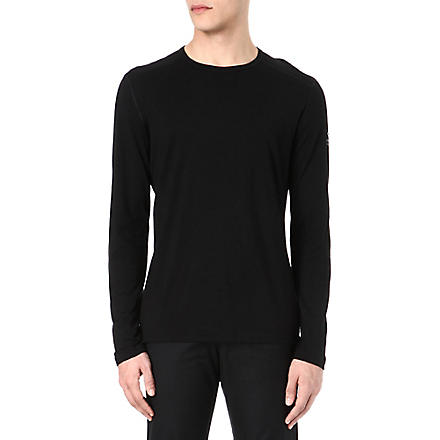 ICEBREAKER Oasis 200 long-sleeved crew-neck top (Black