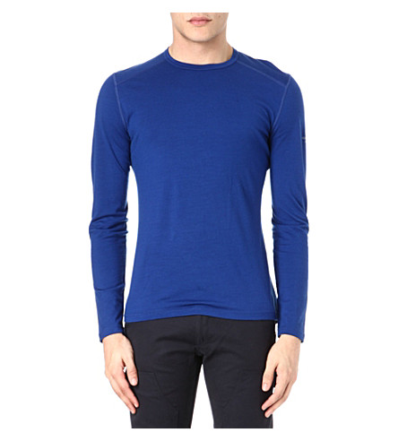 ICEBREAKER Oasis 200 long-sleeved crew-neck top (Blue