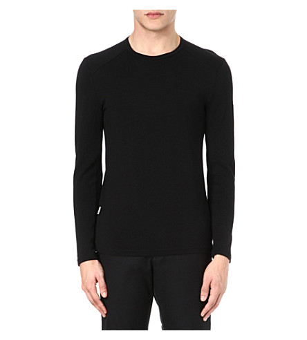 ICEBREAKER Tech 260 long-sleeved crew-neck top (Black