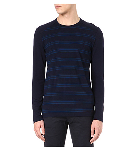 ICEBREAKER Tech 260 long-sleeved crew-neck top (Blue