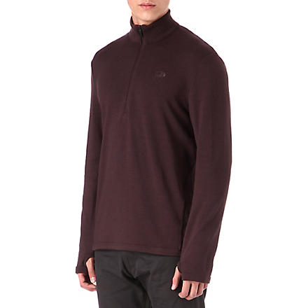 ICEBREAKER Original 320 long-sleeve half-zip top (Brown