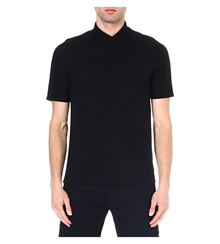 ICEBREAKER Short sleeve tech polo shirt (Black
