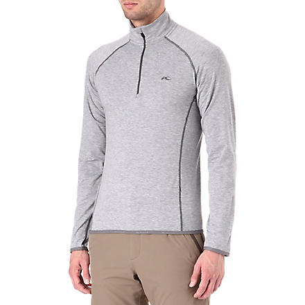 KJUS Trace half-zip fleece top (Grey