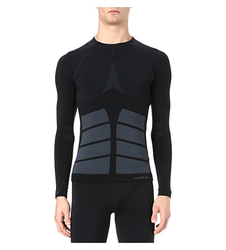 ODLO Evo warm long-sleeved crew-neck top (Black