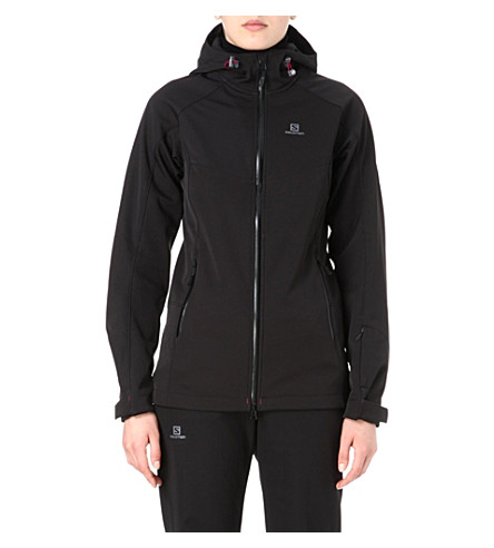 SALOMON Snowflirt Premium 3:1 softshell jacket (Black