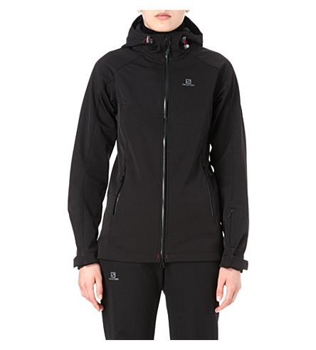 SALOMON Snowflirt Premium 3:1 softshell jacket (Black