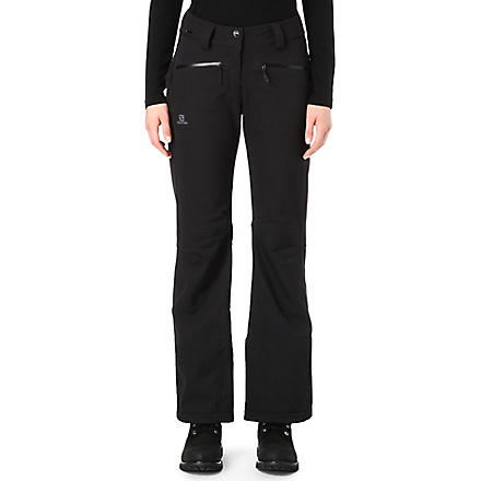 SALOMON Snowflirt softshell ski pant (Black
