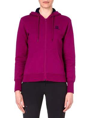 SALOMON Logo zip-up hoody HZ