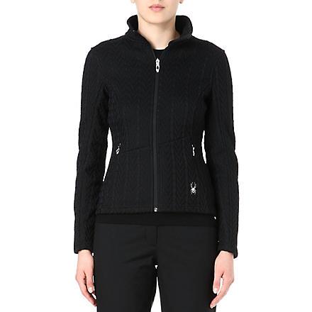 SPYDER Major cable-knit zip-up jacket (Black