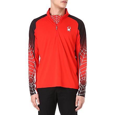 SPYDER Web Strong t-neck top (Red