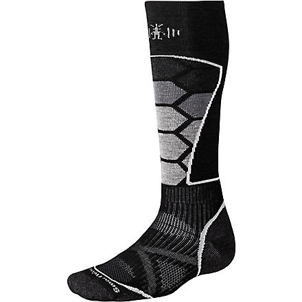 SMARTWOOL PhD graduated compression ski socks (Black