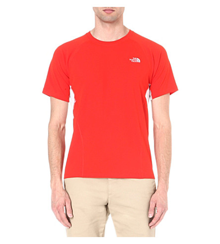 THE NORTH FACE GTD short sleeve t-shirt (Fiery red/tnf white