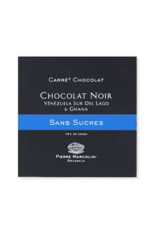 PIERRE MARCOLINI Carre Chocolat Sans Sucre Noir dark chocolate bar