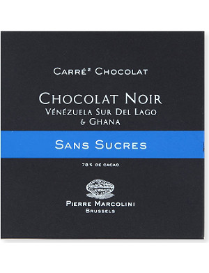 PIERRE MARCOLINI Carre Chocolat Sans Sucre Noir dark chocolate bar