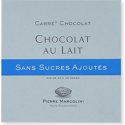 PIERRE MARCOLINI Carre Chocolat Sans Sucre Lait milk chocolate bar
