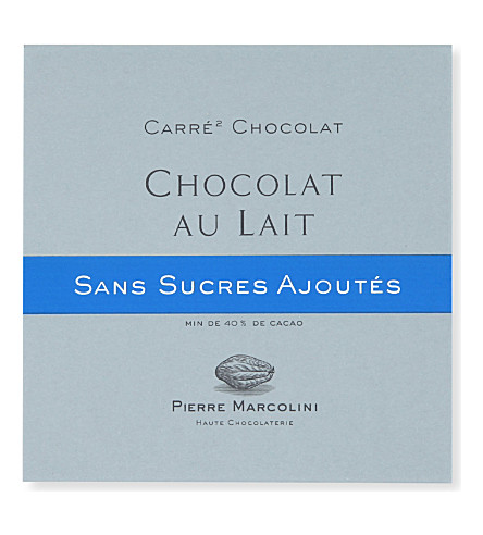 PIERRE MARCOLINI Carre Chocolat Sans Sucre Lait milk chocolate bar