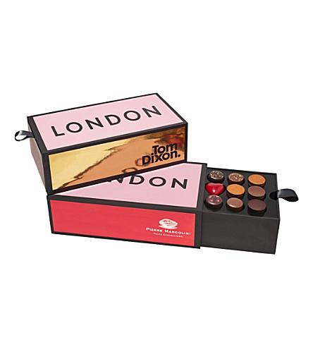 PIERRE MARCOLINI Tom Dixon London Brick chocolate selection