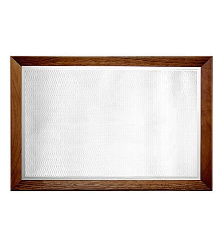 CHRISTOFLE Silver-plated walnut wood tray