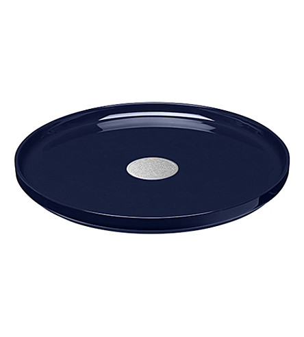 CHRISTOFLE Constellation round lacquered wood tray