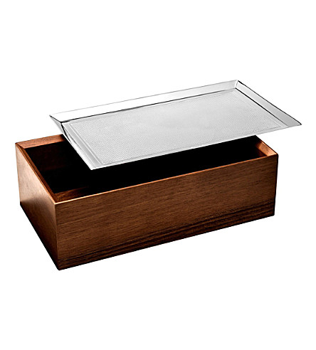 CHRISTOFLE Wood and silver-plated storage box